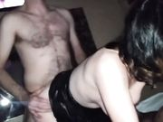 Beautiful young wife first time threesome sex